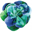 Pond Life - Blue-Green Fabric Flower