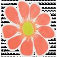 Garden Party - August 2014 Blog Train - Orange Flower
