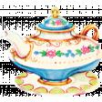 Garden Party - August 2014 Blog Train - Teapot