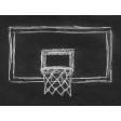 Basketball Card 4x3 Chalk Backboard