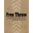 Basketball Card 3x4 Free Throw