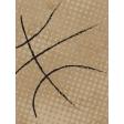 Basketball Card 3x4 Halftone Ball