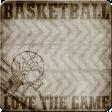Basketball Sticker Square