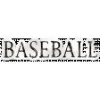 Baseball Sticker Word Art