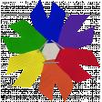 School Bow Rainbow 02
