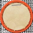 School Tag Circle Orange