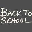 School Word Art Chalk Back To School