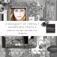 A bouquet of Freshly Sharpened Pencils - Overlays, Textures, and Template Bundle