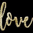 "Amity Gold Glitter Wordart ""Love"""
