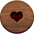 ::Xanthe:: Wooden Flair with Heart