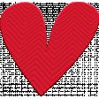 ::Kids Ahead Kit:: Red Plastic Heart