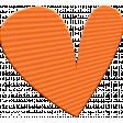 ::Kids Ahead Kit:: Orange Plastic Heart