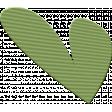 ::Kids Ahead Kit:: Green Plastic Heart