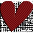 ::Kids Ahead Kit:: Maroon Plastic Heart