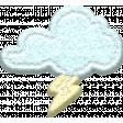 ::Raindrops & Rainbows Kit:: Felt Thundercloud w/ Shadow