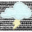 ::Raindrops & Rainbows Kit:: Felt Thundercloud w/out Shadow