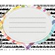 ::Raindrops & Rainbows Kit:: Speech Bubble Journal Tag
