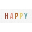 ::Retro Holly Jolly Kit:: Happy Wordart Strip