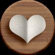 Adelaide Kit: Folded Paper Heart on Wooden Circle