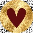 Ava Mini Kit: Heart Sticker Gold