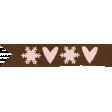 Joy: Paper Tab w/ Snowflake and Heart