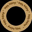"""Joy: WA Ring """"Happy Holidays"""""""