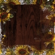 Autumn Sunflowers and Wood Background Paper