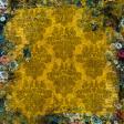 Vintage Gold Velvet Floral Backgound