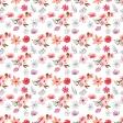 Pink & Orange Floral Paper