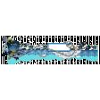 Aqua & Navy Border Cluster Chipboard 02