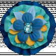 Aqua Navy Flower