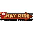 Autumn Hay Ride Word Art
