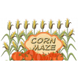 Autumn Corn Maze Word Art Cluster