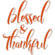 Autumn Blessed and Thankful Word Art Sticker