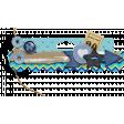 Aqua & Navy Blue Border Arrow Cluster 3