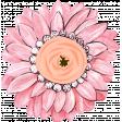 Pink & Orange Chipboard Flower