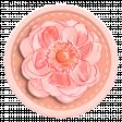 Pink and Orange Chipboard & Flower