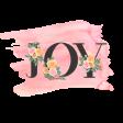 Pink & Orange Word Art Joy