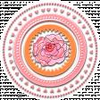 Pink & Orange Flower in Circle Frame