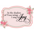 Scripture in Roses Frame Chipboard