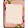 Shabby Vintage Roses Pocket Journal Card