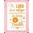 Pink and Orange Pocket Card Bible Verse Psalm 46:1