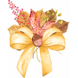 Watercolor Autumn Leaves Bouquet