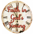 Faith in God's Timing Chipboard Clock Word Art