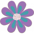 Purple and Turquoise Chipboard Flower