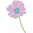 Purple and Turquoise Chipboard Flower 04
