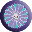 Purple and Turquoise Flower Flair