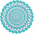 Purple And Turquoise Circle Paper Flower
