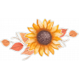 Grateful Sunflower and Autumn Leaves Sticker