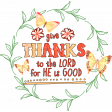 Grateful Collab: Give Thanks to the Lord Word Art Wreath 2